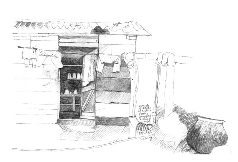 Phool Maya's immaculate kitchen